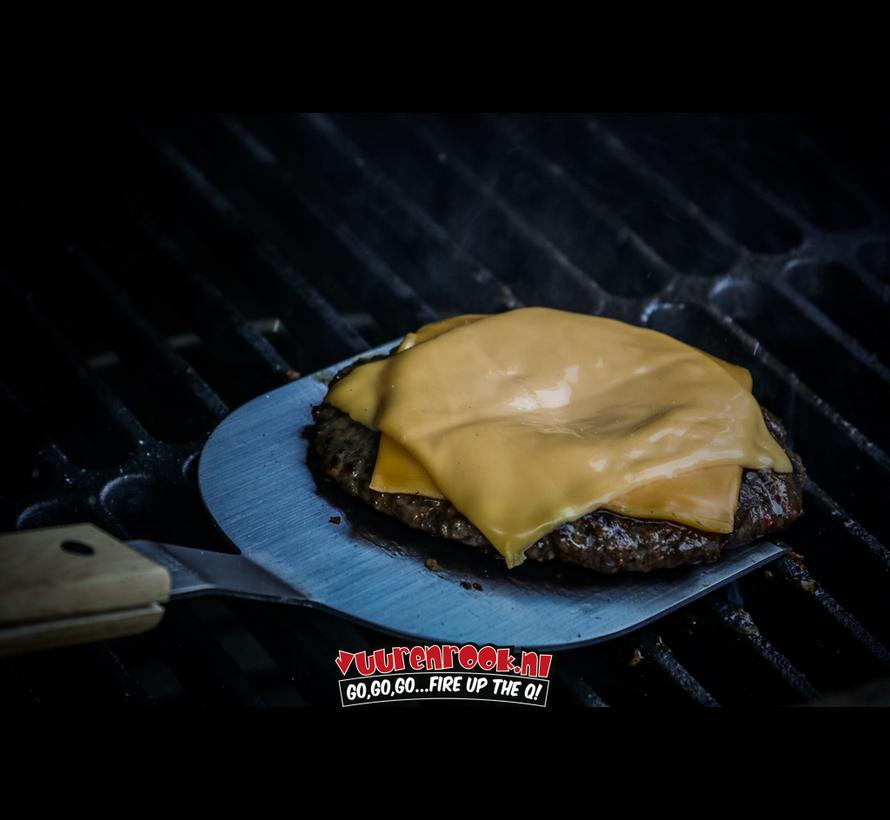 Vuur&Rook Stainless Steel Xtra Long Steel Burger Flipper