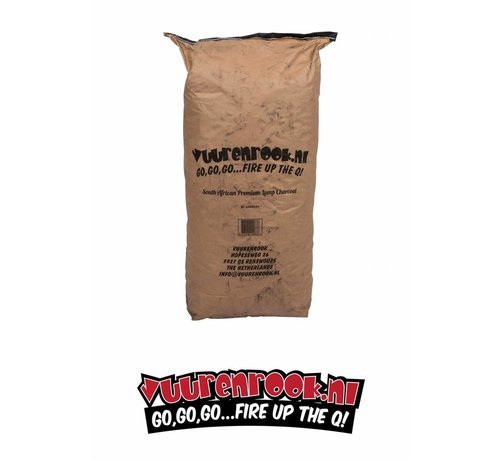 Dammers Transport Damage: Vuur&Rook South African Premium Lump Charcoal 100% Black Wattle by Dammers 10 kg