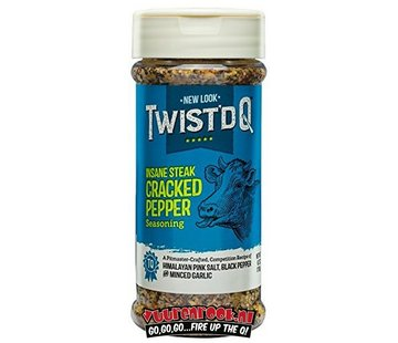 Twist'd Q Twist'd Q Insane Steak Cracked Pepper Seasoning 6.2oz