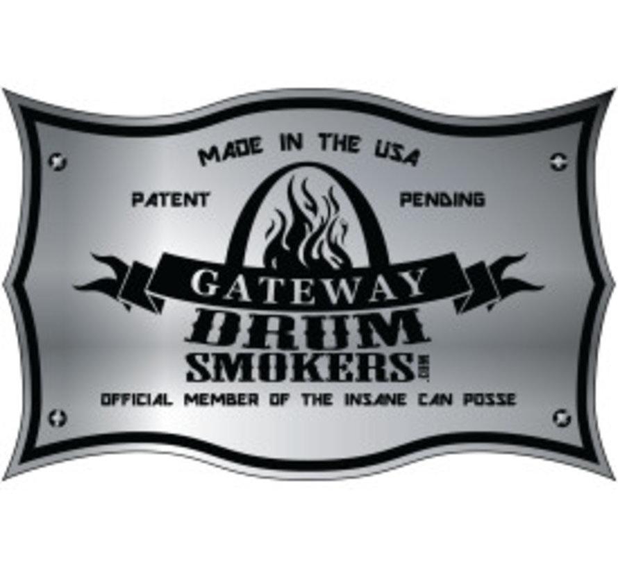 Gateway Drum Smoker - 55 Gallon Matte Charcoal No Plate