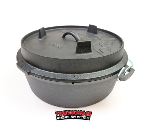 Valhal Valhal Outdoor Dutch Oven 6.4 quarts / 6.1 liters with feet on the lid