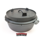 Valhal Outdoor Dutch Oven 6.4 quarts / 6.1 liters with feet on the lid