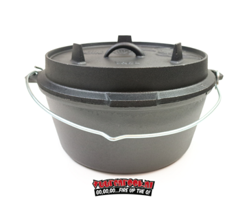 Valhal Valhal Outdoor Dutch Oven 8.4 quarts / 8 liters with feet on the lid