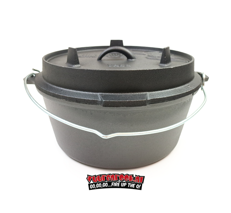 Valhal Outdoor Dutch Oven Without Feet 8L