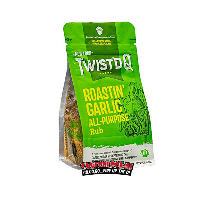 Twist'd Q Roastin' Carlic All Purpose Rub 6oz