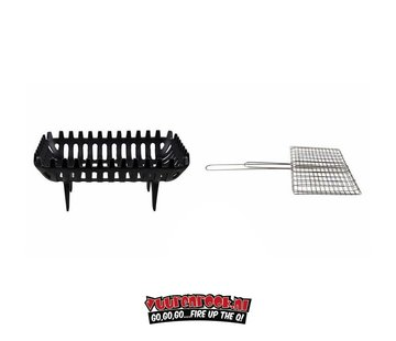 The Windmill Cast Iron The Windmill Campfire Place + GRATIS BBQ Wire Mesh-Rectangular