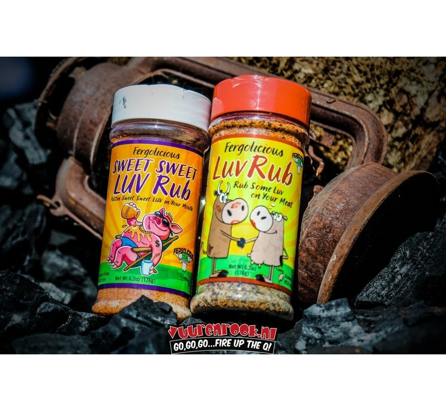 NEW! Fergolicious BBQ Sweet SPG Luv Rub 11.2oz