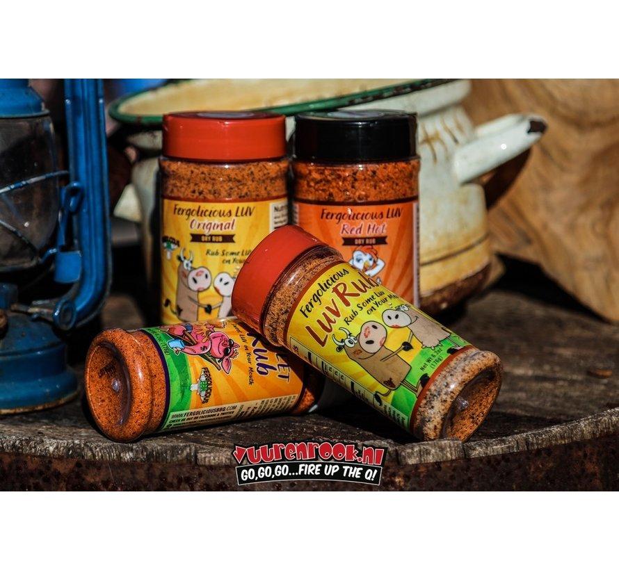 Fergolicious Red Hot Luv Dry Rub 6oz