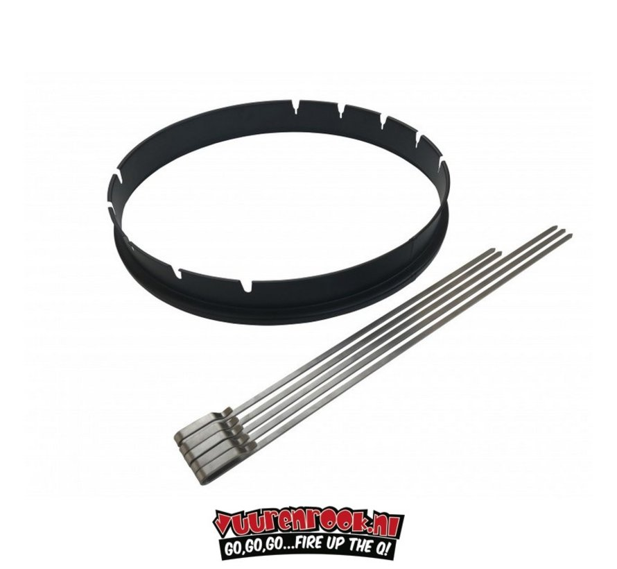 BBQ Rotisserie Ring 57cm with Skewer Set