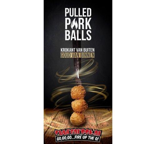 BBQ Balls Pulled Pork Balls 54 Stück