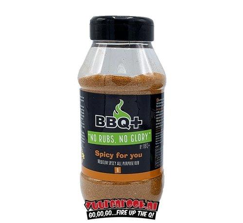 BBQ + BBQ + Spicy For You BBQ Rub XL 600 gram
