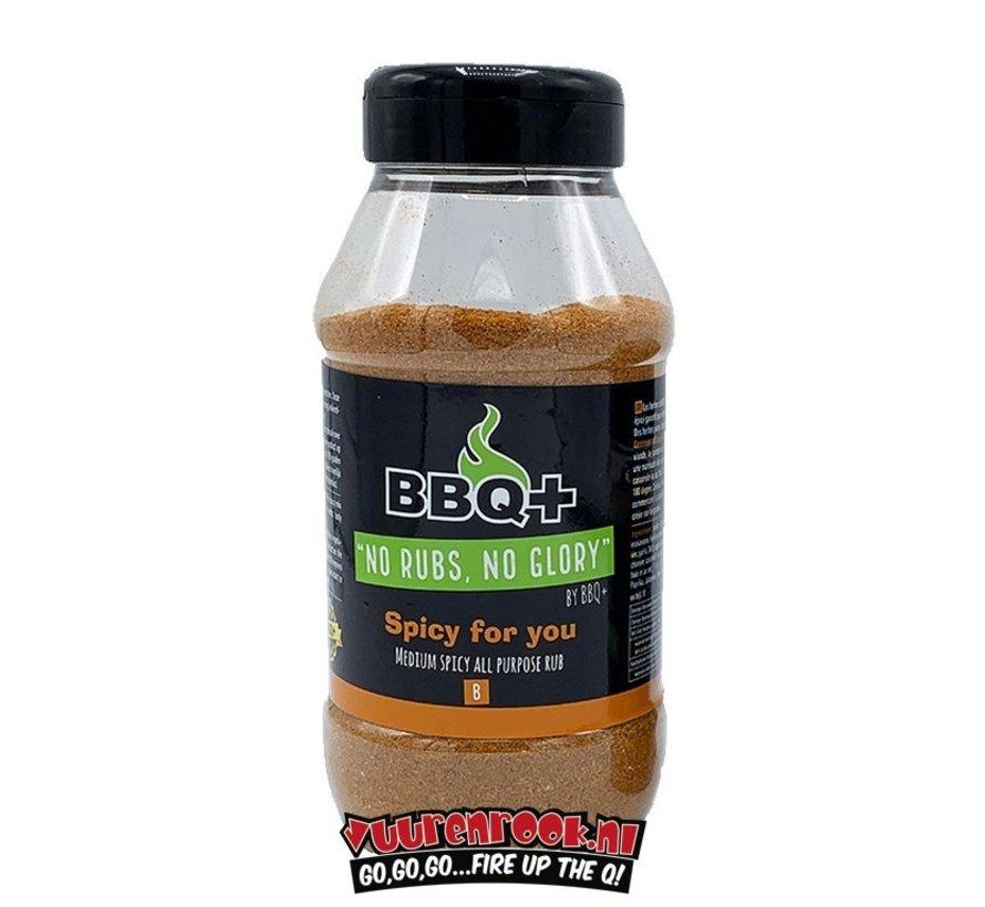 BBQ + Spicy For You BBQ Rub XL 600 gram