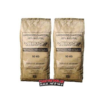 Vuur&Rook Deal Vuur&Rook Original Argentina Red Quebracho Lump Charcoal 2x10 kg