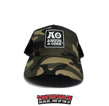 Angus & Oink Angus&Oink Camo Snapback Trucker Cap  Green