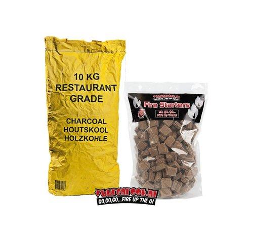 Horeca South African Restaurant Houtskool / Aanmaakblokjes Deal 10 kg