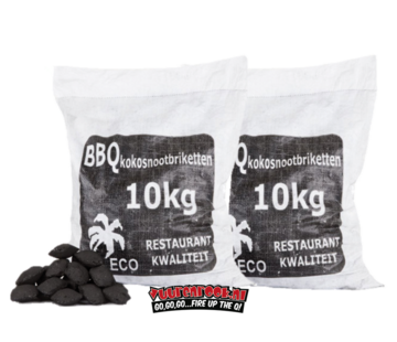 Hot Kokosnussbriketts  Pillow Shape 2x10kg