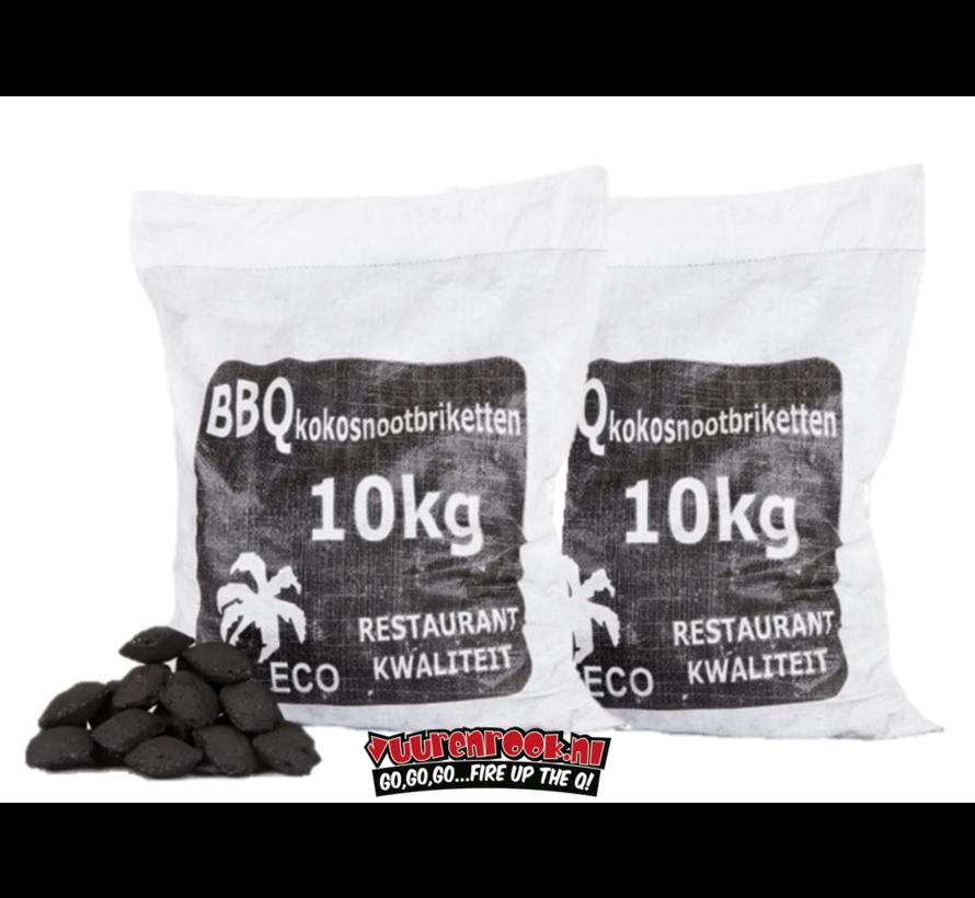 Hot Kokosnussbriketts  Pillow Shape 2x10kg