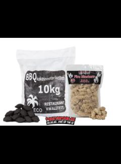 Hot Kokosnussbriketts  Pillow Shape / Wokkels Deal 10kg