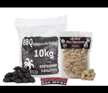 Hot Coconut Briketten Pillow Shape / Wokkels Deal 10kg