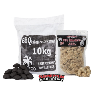 Hot Kokosnussbriketts  Pillow Shape / Wokkels Deal 10kg