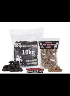 Hot Coconut Briketten Pillow Shape / Aanmaakblokjes Deal 10kg