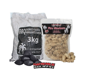 Hot Coconut Briketten Pillow Shape / Wokkel Deal 3kg