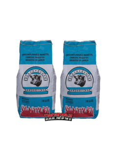 Black Ranch Black Ranch Rode Quebracho Argentinië Briketten Pillow Shape 2 x 3 kg Deal