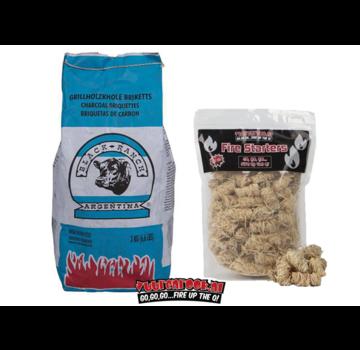 Black Ranch Black Ranch Red Quebracho Argentina Briquettes / Fire Starters Deal 3kg