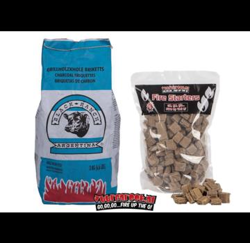 Black Ranch Black Ranch Red Quebracho Argentina Briquettes Pillow Shape 3 kg / Aanmaakblokjes Deal