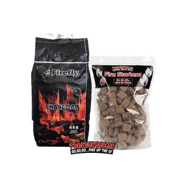 Firefly Firefly South African Black Wattle Houtskool / Aanmaakblokjes Deal 4 kg