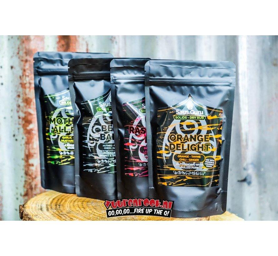Saus.Guru Solids Dry Rub Raspberry Rub Pitmaster Collection 320 gram