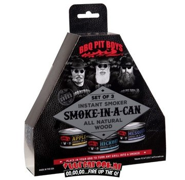 BBQ Pit Boys BBQ Pitboys Smoke in a Can Set 3 pcs