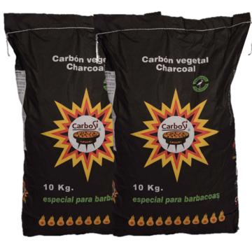 Carbosi Carbosi Spaans ECO Houtskool Eucalyptus, Walnoot & Eik 2x10 kg
