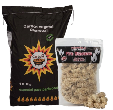 Carbosi Carbosi Spanish ECO Charcoal Eucalyptus, Walnut & Oak / Fire Starters Deal 10 kg