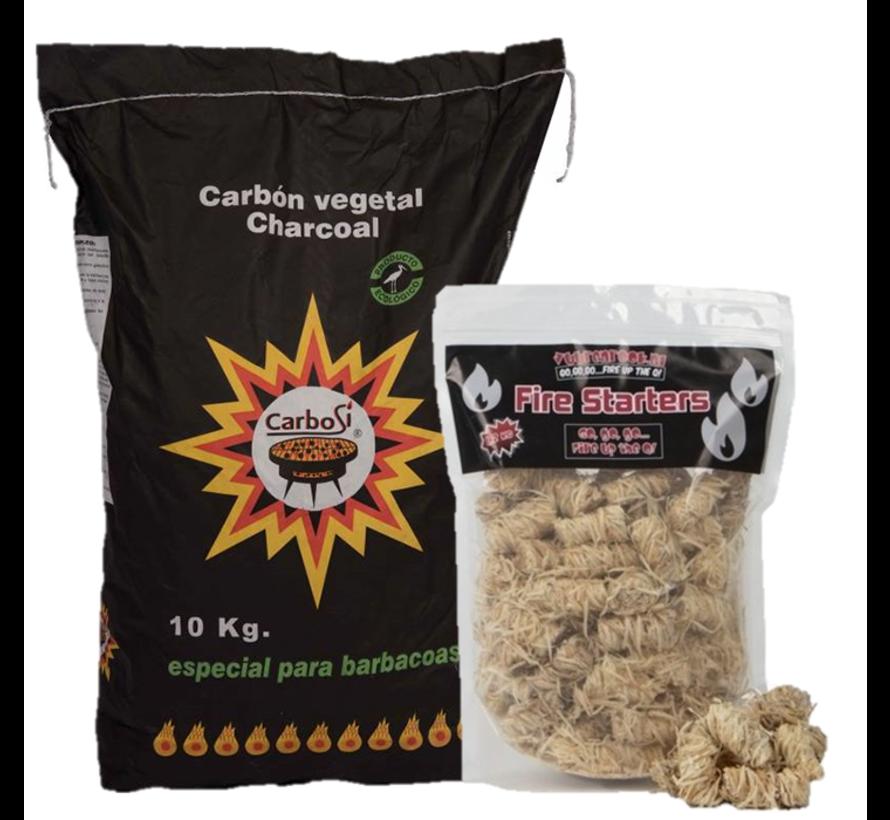Carbosi Spaans ECO Houtskool Eucalyptus, Walnoot & Eik / Wokkels Deal 10 kg