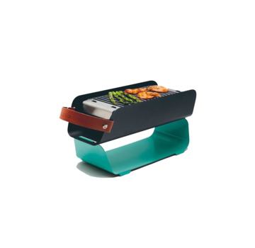 Una UNA Portable Table Top Charcoal Grill - Mint Turquoise