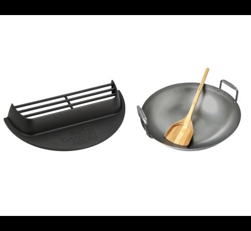 Big Green Egg Big Green Egg Cast Iron Satay Grill + Carbon Steel Wok