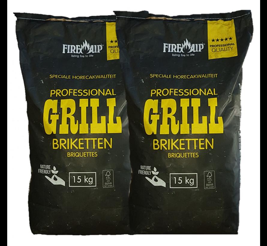 PEKO / Fire Up, Briketts Horeca Acacia (Südafrika Black Wattle) 2x15 kg