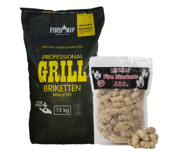 Peko PEKO / Fire Up, Horeca Acacia (South Africa Black Wattle) Briquettes 15 kg / Wokkels Deal