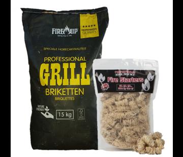 Peko PEKO / Fire Up, Horeca Acacia (Zuid Afrika Black Wattle) Briketten 15 kg / Wokkels Deal