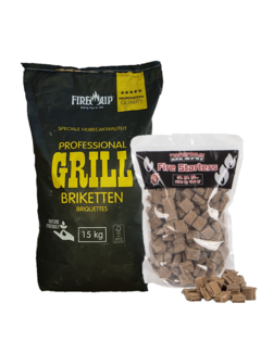 Peko PEKO / Fire Up, Horeca Acacia (South Africa Black Wattle) Briquettes 15 kg / Firelighters Deal