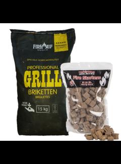 Peko PEKO / Fire Up, Horeca Acacia (Zuid Afrika Black Wattle) Briketten 15 kg / Aanmaakblokjes Deal