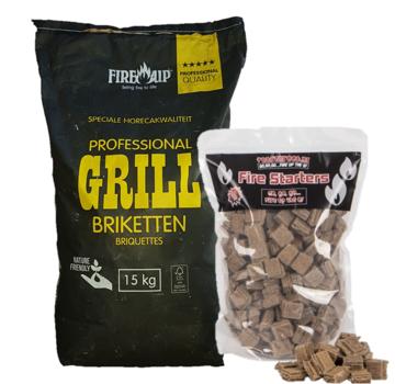 Peko PEKO / Fire Up, Briketts Horeca Acacia (Südafrika Black Wattle) 15 kg / Feueranzünder Deal