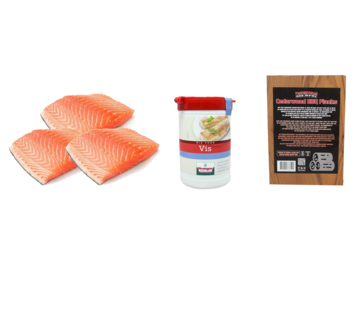 Vuur&Rook Noorse Zalmfilet 3 x 200 gram + Verstegen Mix + Ceder Planks 3 stuks Deal