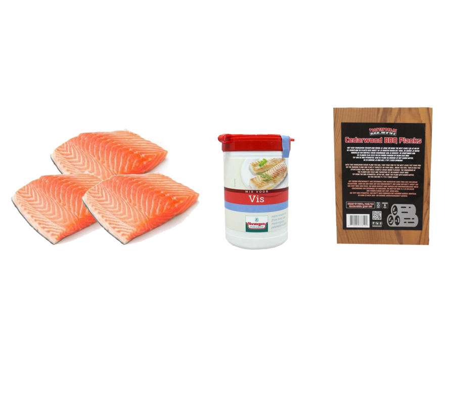 Norwegian Salmon Fillet 3 x 200 grams + Verstegen Mix + Cedar Planks 3 pieces Deal