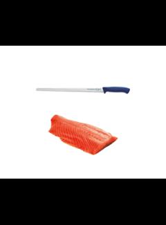 Vuur&Rook Hängender kaltgeräucherter norwegischer Lachs 1000 Gramm + F-Dick Pro Dynamisches Lachsmesser 32 cm Deal