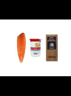 Vuur&Rook Norwegian Salmon Side 1200 grams + Verstegen Mix + Cedar Plank Deal