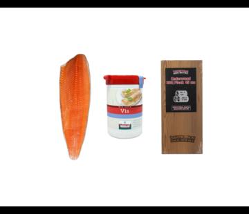 Vuur&Rook Noorse Zalmzijde 1200 gram + Verstegen Mix + Cedar Plank Deal