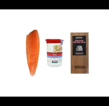 Vuur&Rook Norwegian Salmon Side 1200 Gramm + Verstegen Mix + Cedar Plank Deal