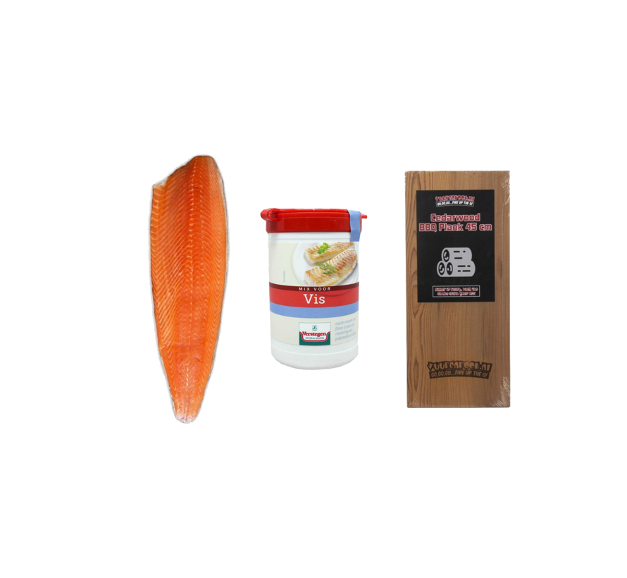 Noorse Zalmzijde 1200 gram + Verstegen Mix + Cedar Plank Deal